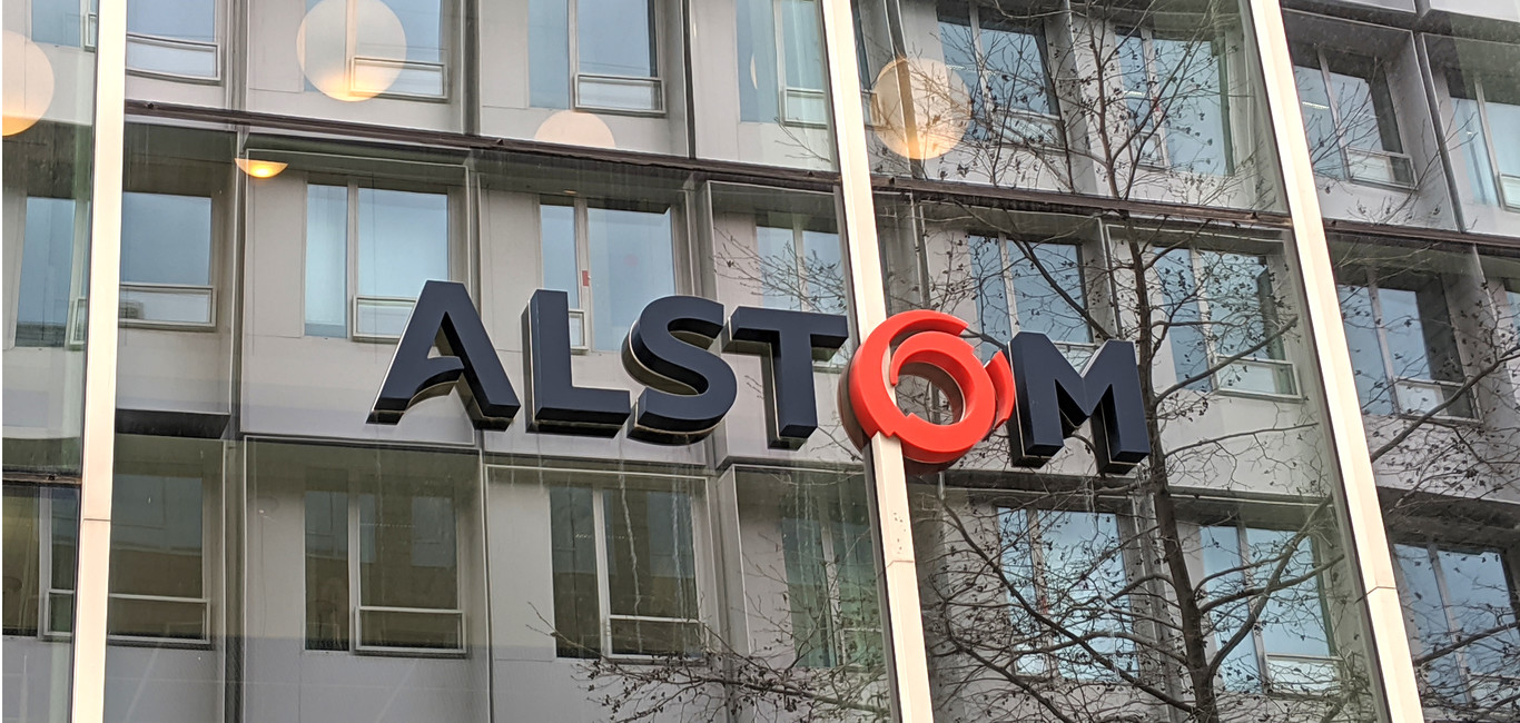Alstom HQ Kappa building with new logo