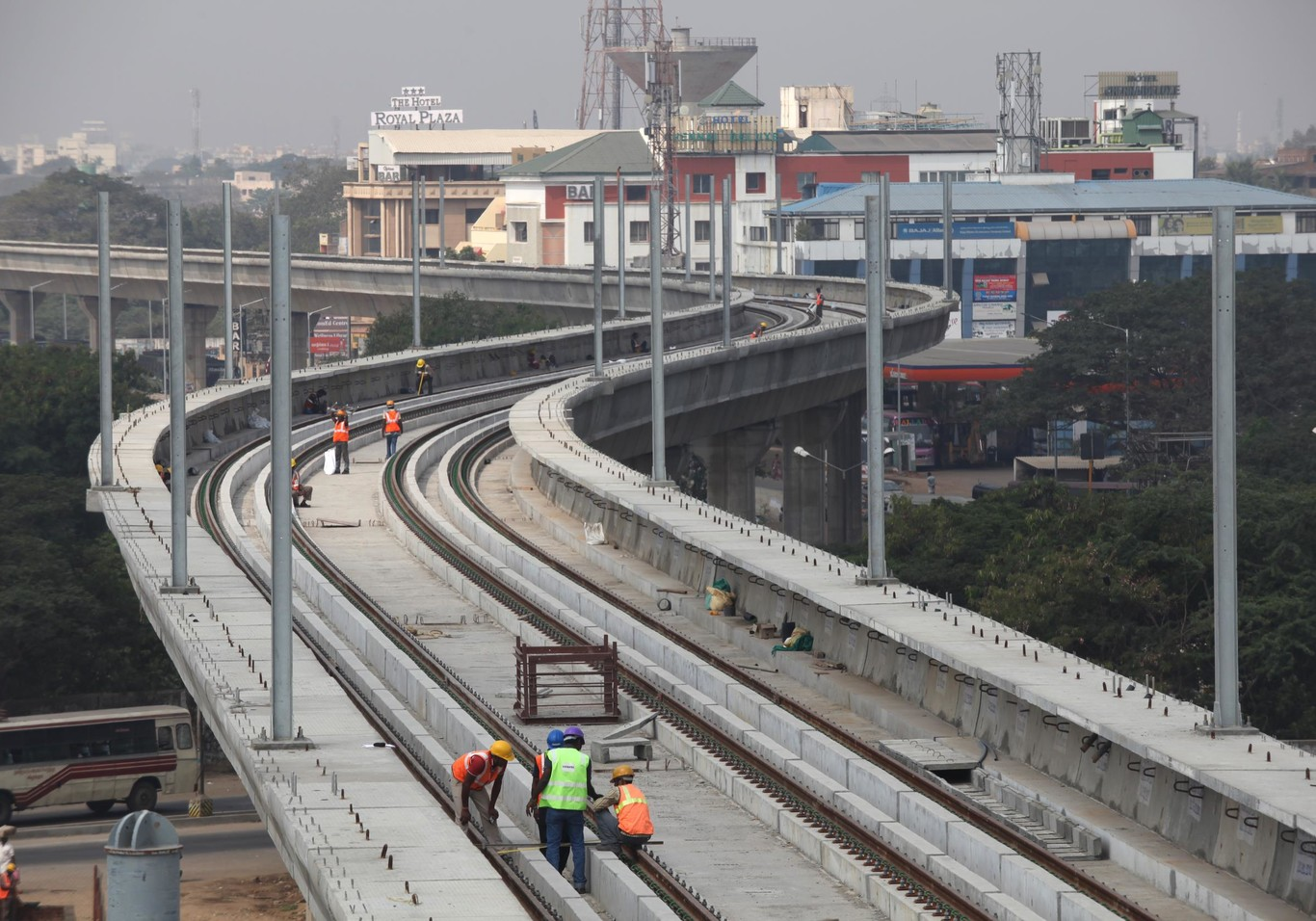Track laying for the Chennai metro Infrastructure project. | Copyright/Ownership : Alstom Transport/ F. Christophoridès