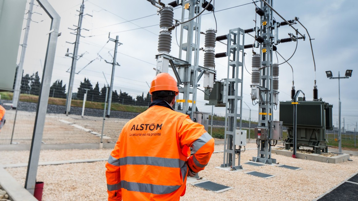 Electrical substation of Caissargues. High-speed line bypassing Nîmes and Montpellier. Nîmes. April 2016. | Copyright/Ownership : ALSTOM Transport / TOMA – D. Richard