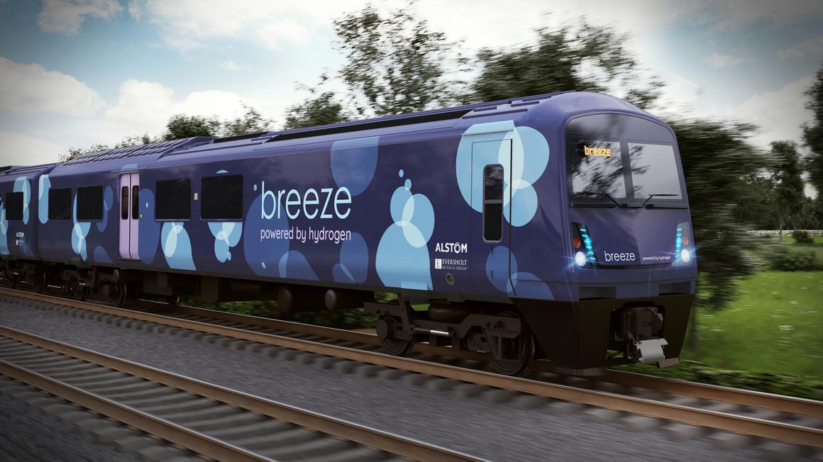 Alstom And Eversholt Rail Unveil A New Hydrogen Train
