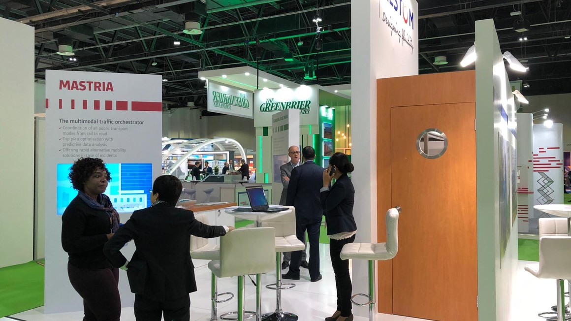 Alstom booth at Middle East Rail Dubai 2019