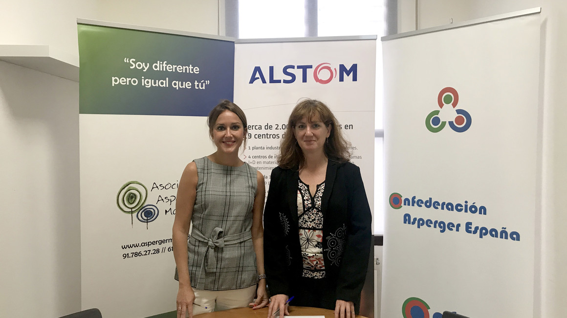 Alstom and the Madrid Asperger Association sign an agreement on professional internships