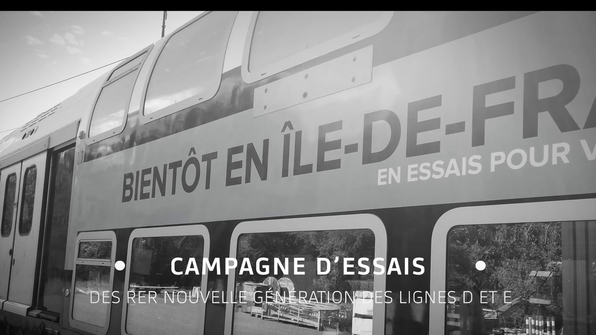 FR Video thumbnail RER NG Test Campaign for the New Generation of Suburban trains of Région Ile-de-France, Lines D&E