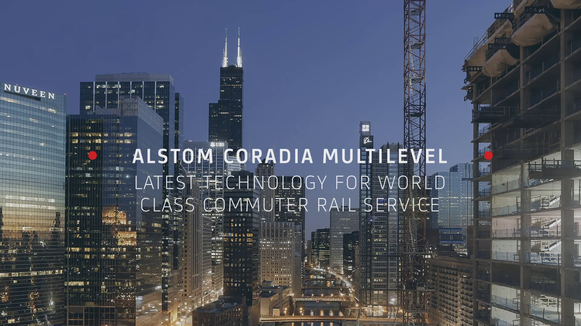 Video thumbnail: Alstom Coradia Multilevel for Metra