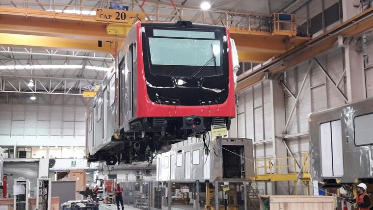 Carbodyshells production for Santiago metro, in Chile