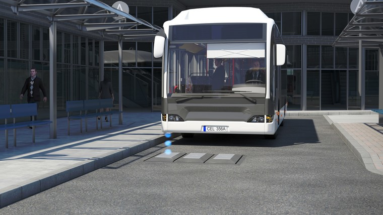 SRS – electric  bus charging system