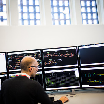 In the traffic control center, Copenhagen