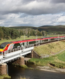 Alstom branded Pendolino on West Coast Main Line