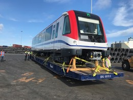 Delivery of the first two metro trains for Santo Domingo Line 2B