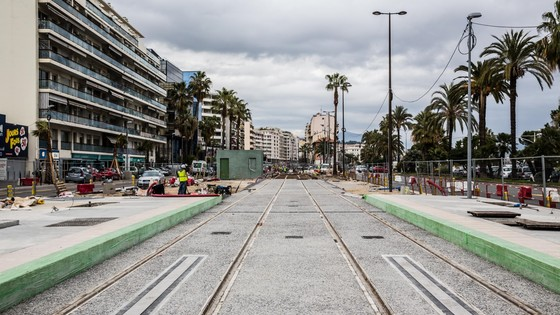 Construction of a new tramway line with SRS, Nice ©Alstom / TOMA - David Richard