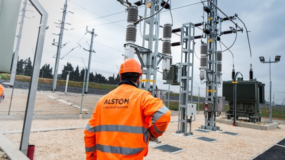 Electrical substation , high-speed line bypassing Nîmes and Montpellier, France © Alstom / TOMA – D. Richard