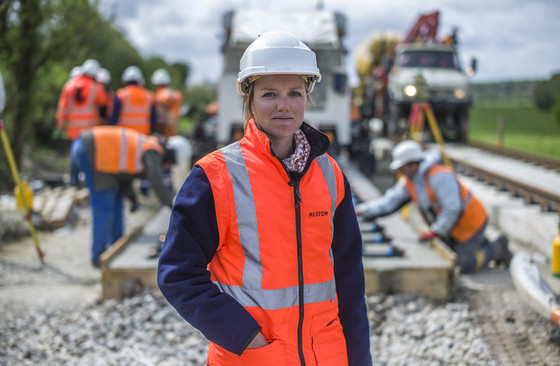 Caroline Masson, Track Work Solution Manager - New Ballastless Track, appitrack mainline, Gisors, France, 2013